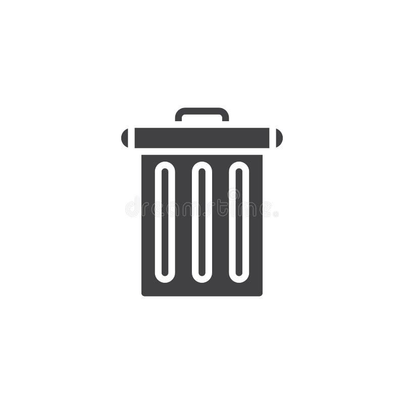 Kosz na śmieci ikony wektor ilustracja wektor