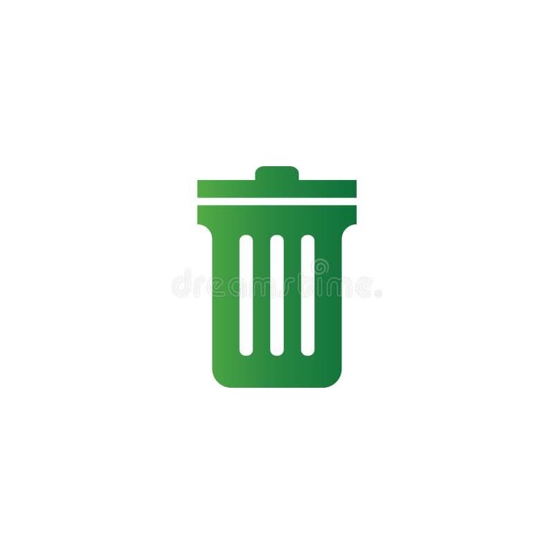 Kosz na śmieci loga projekta szablon royalty ilustracja