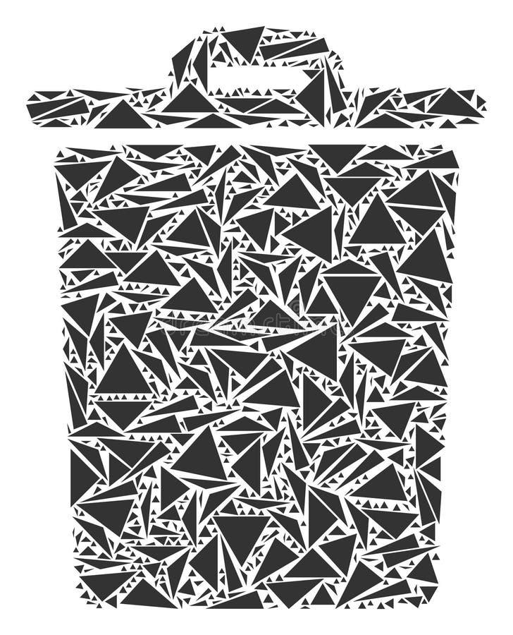 Kosz Na Śmieci mozaika trójboki royalty ilustracja