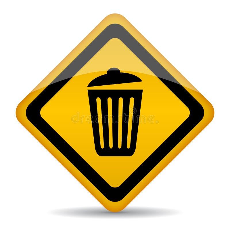 Kosz na śmieci wektoru znak ilustracja wektor