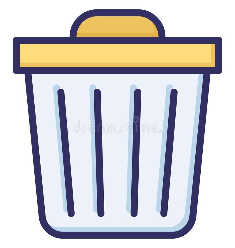 Kosz na śmiecie, śmieci Odizolowywał Wektorową ikonę która może łatwo redaguje lub modyfikująca ilustracja wektor