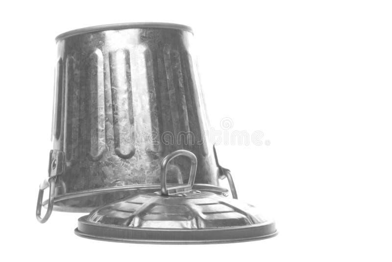 kosz odizolowywający metal obraz royalty free