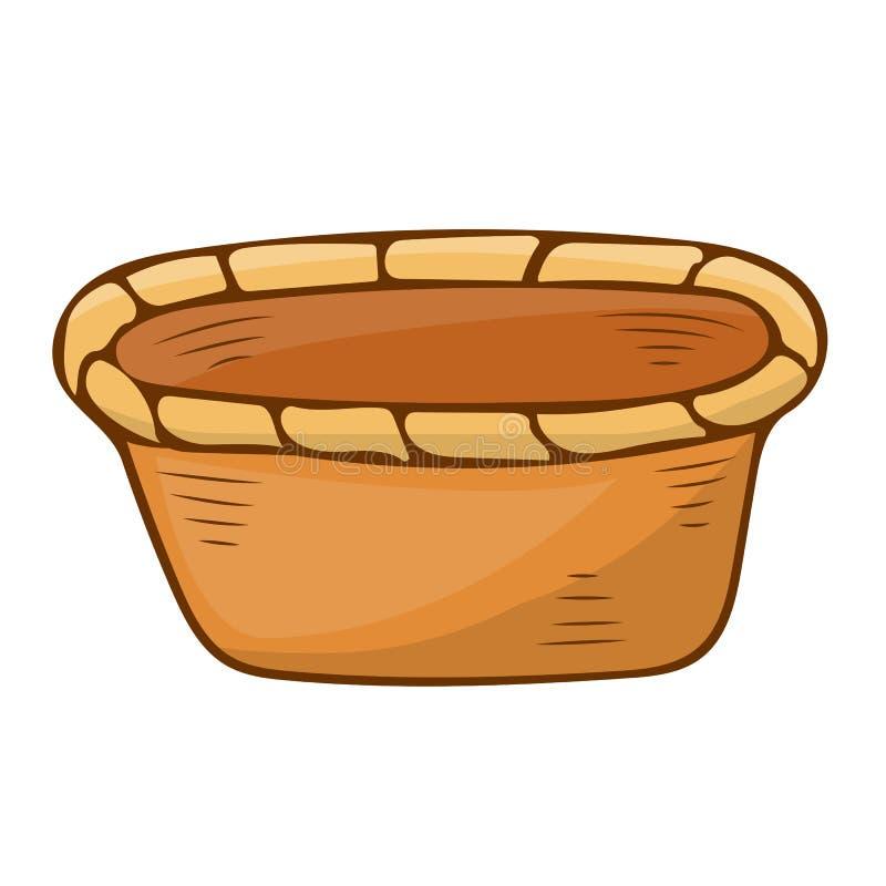 Kosz odosobniona ilustracja ilustracja wektor
