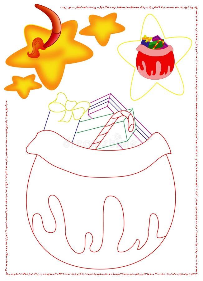 Kosz prezenty royalty ilustracja