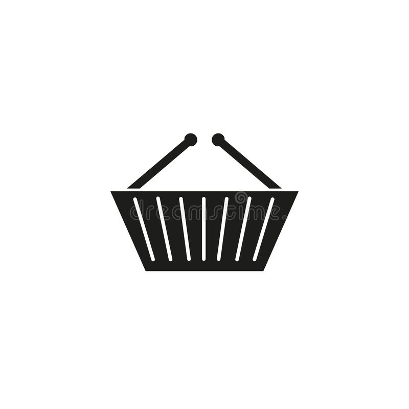 Kosz sklepowa czarna ikona royalty ilustracja