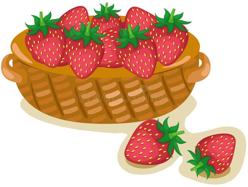 Kosz truskawki ilustracja wektor