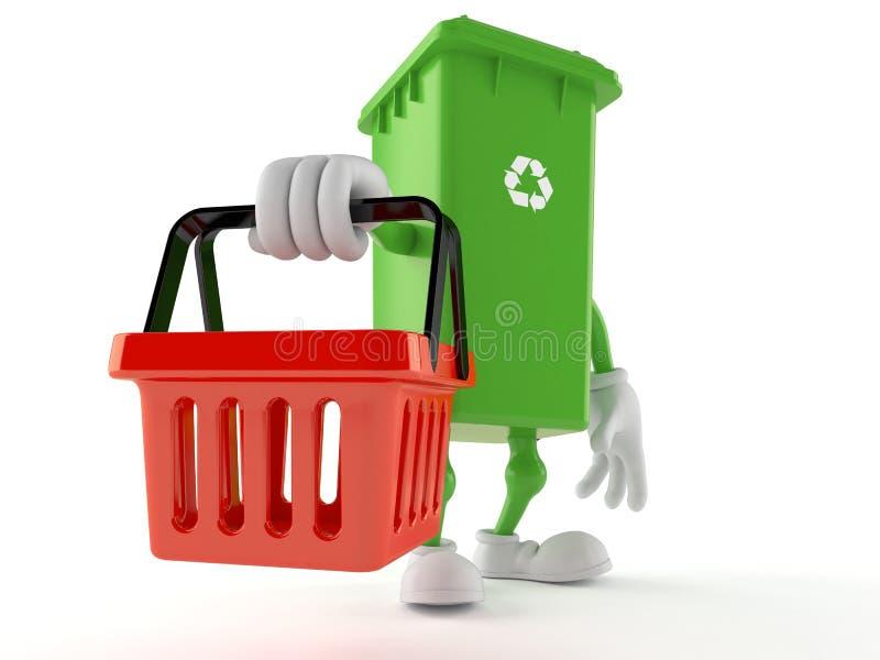 Kosza na śmiecie charakteru mienia zakupy pusty kosz ilustracji