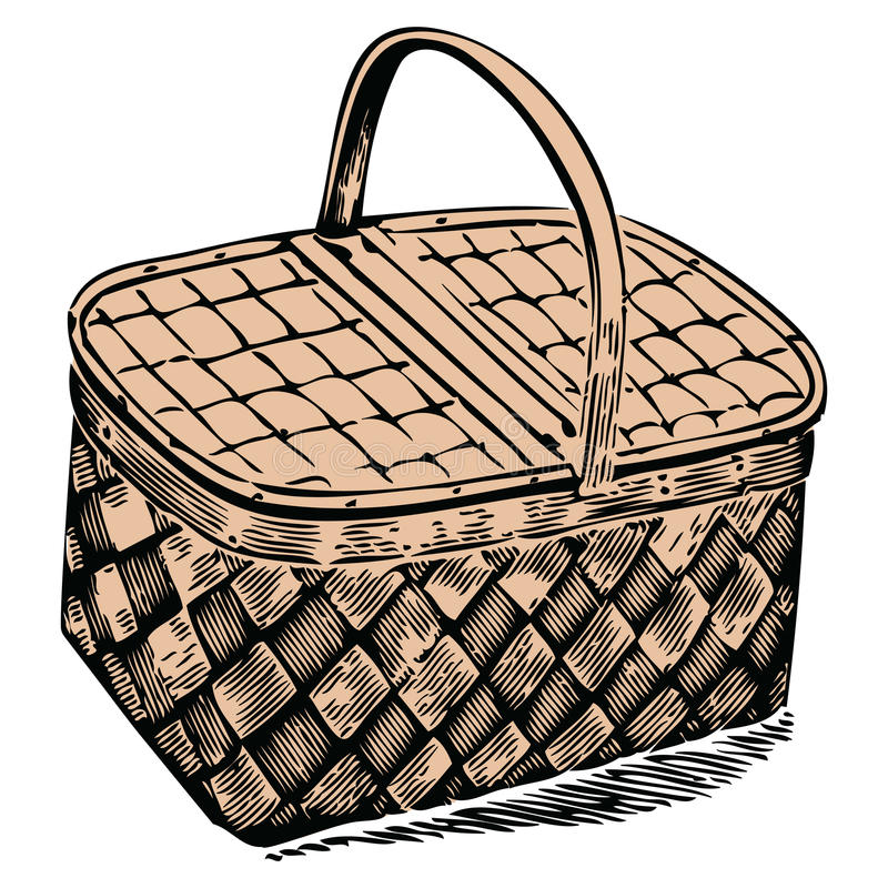 kosza pinkin royalty ilustracja