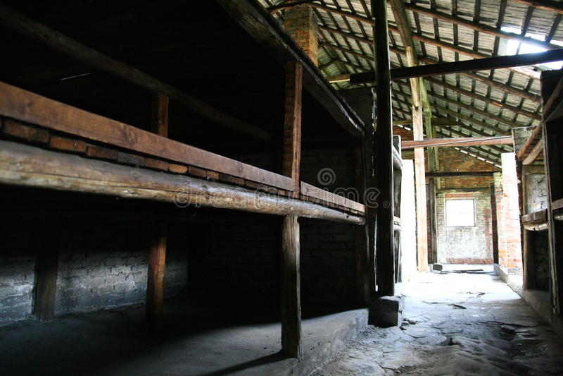 koszarowy Auschwitz więzienie obrazy stock