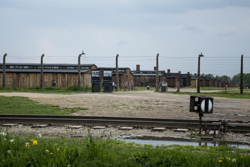 Koszaruje żywego izbowego koncentracyjnego obóz Auschwitz Birkenau KZ Polska 2 zdjęcie royalty free