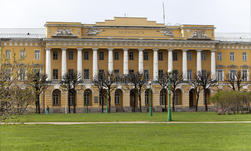 Koszary Lenenergo budynek na polu Mars Pavlovsk grenadierial pułk, teraz, St Petersburg Rosja obrazy royalty free