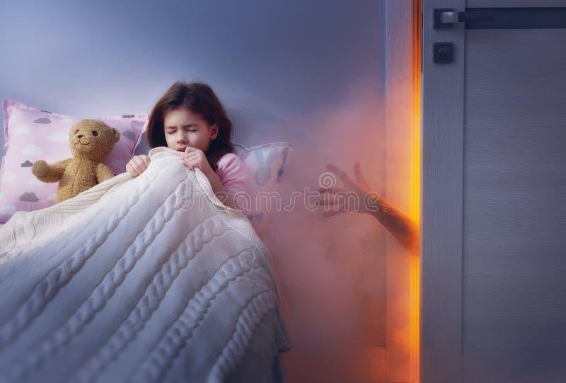Koszmar dla dzieci fotografia stock