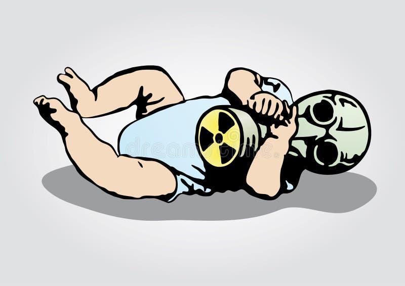 koszmar jądrowy ilustracja wektor
