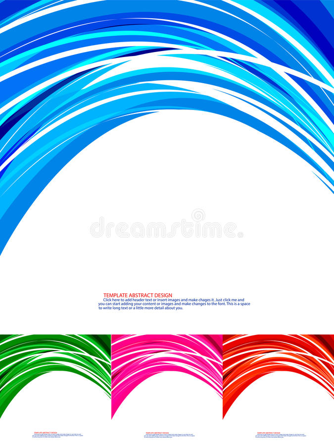 Koszowy abstrakcjonistyczny kolor ilustracja wektor