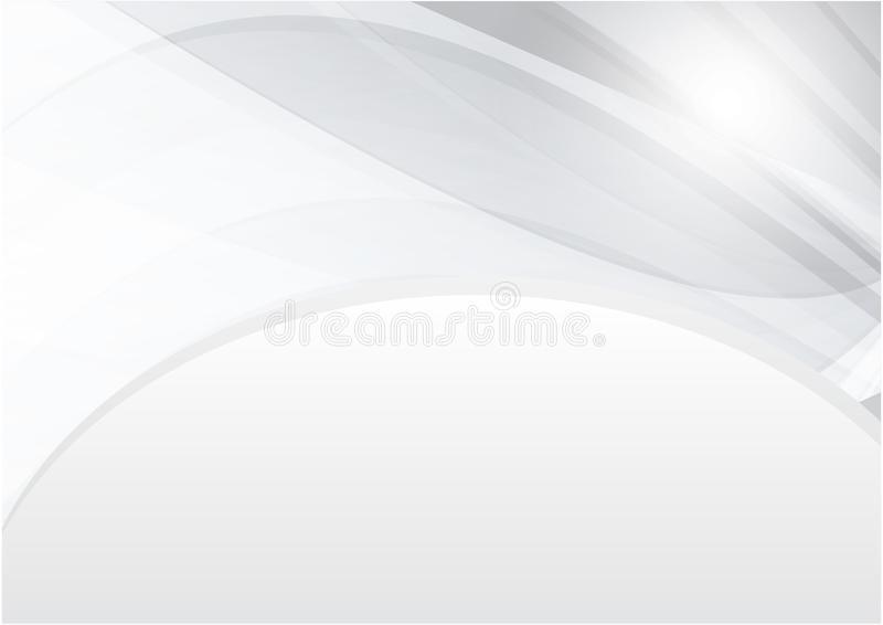 Koszowy biały i szarość koloru wektorowy abstrakcjonistyczny tło z kopii przestrzenią dla nowożytnego projekta ilustracja wektor