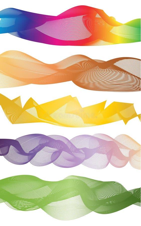 Koszowy tęczy grafiki wzór ilustracji
