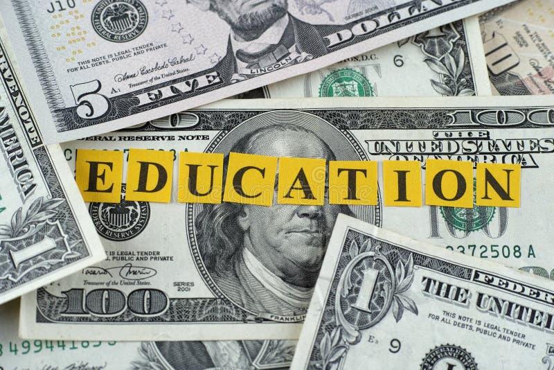 Koszt edukacja obraz stock