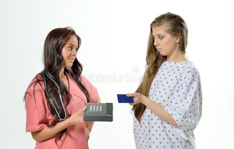 Koszt opieka zdrowotna - płatniczy żądanie obraz stock