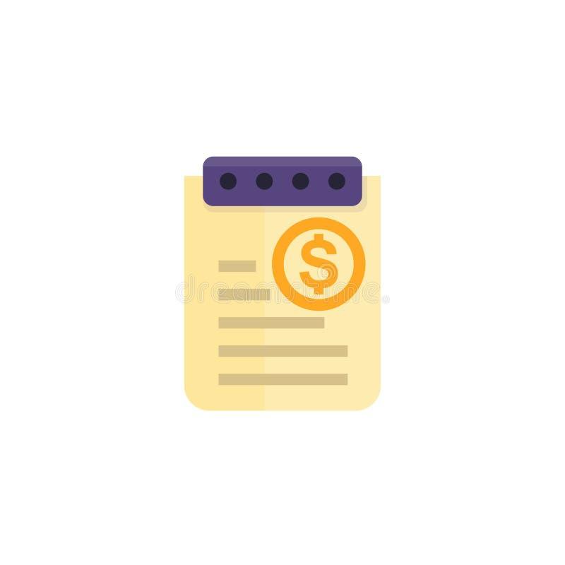 Koszt raportowa ikona ilustracji