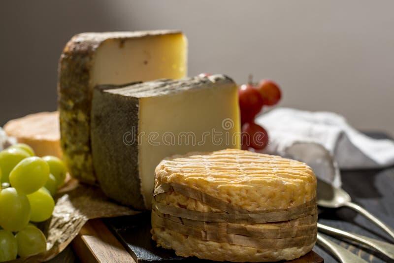 Kosztować stary francuz AOC miękki pudgent żółty serowy Livarot, zdjęcie stock