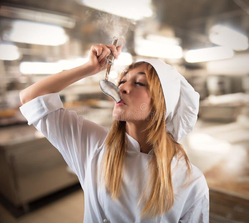 Kosztować szef kuchni fotografia stock