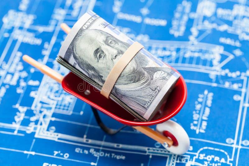 Kosztu Budowy projekt obraz stock