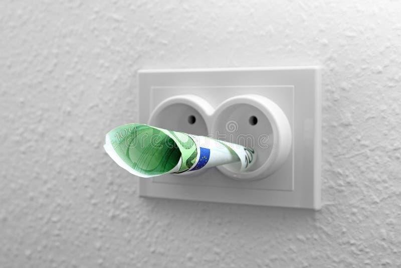 Kosztu energii pojęcie obraz royalty free