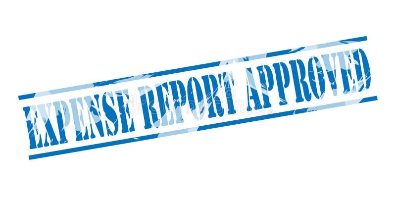 Kosztu raportu błękita zatwierdzony znaczek ilustracji