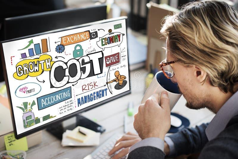 Koszty Finansują bankowość pieniądze przepływu gotówki pojęcie obrazy stock