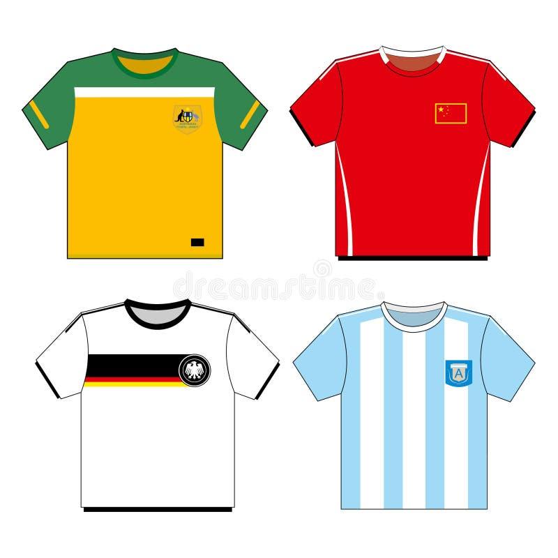 koszula futbolowa ustalona piłka nożna ilustracja wektor