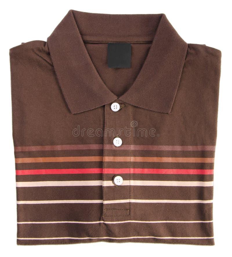 Koszula mężczyzna polo składająca koszula na tle zdjęcia stock