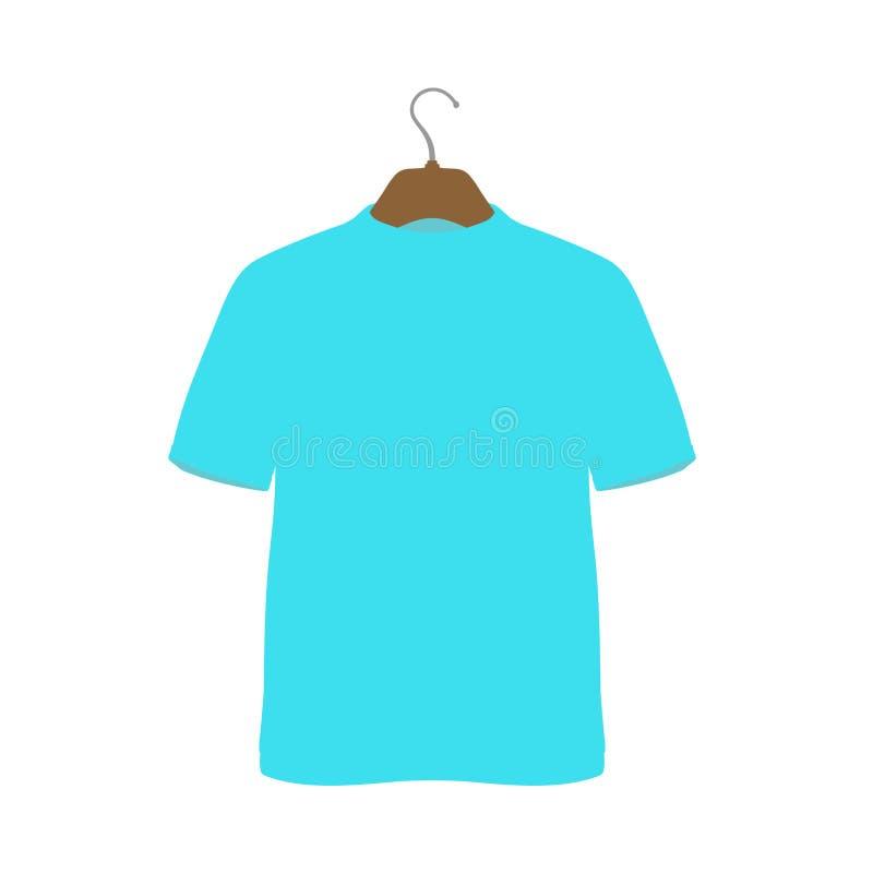 Koszula na wieszak ikony odzieży stylu tkaniny wektorowym znaku Sklepowy symbol sprzedaży handlu detalicznego tkaniny projekt Mie ilustracji
