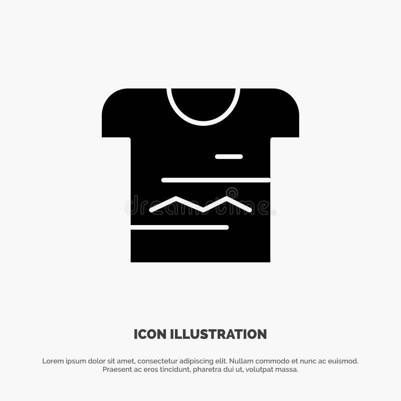 Koszula, Tshirt, płótno, Jednolity stały glif ikony wektor ilustracji