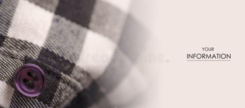 Koszula w klatki tkaniny fotografii makro- wzorze fotografia stock