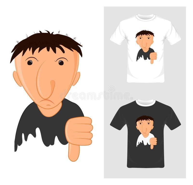 Koszulka Graficzny projekt kreskówka z wali puszek - wektor royalty ilustracja