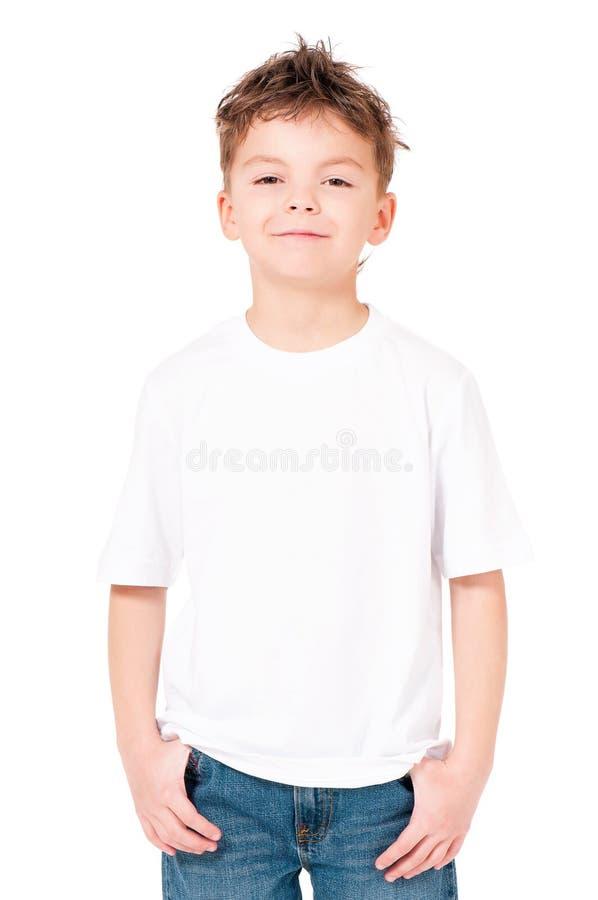 Koszulka na chłopiec fotografia stock