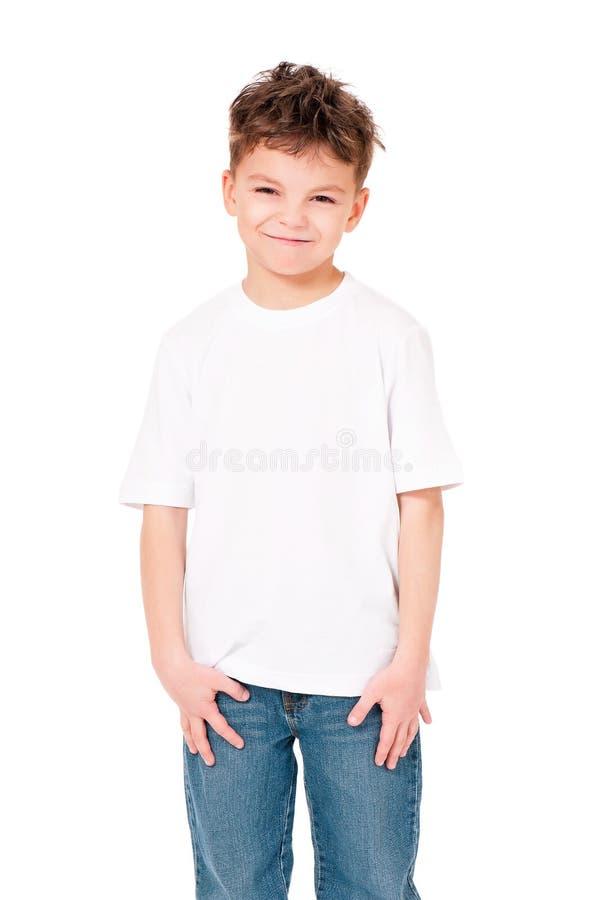 Koszulka na chłopiec zdjęcia royalty free