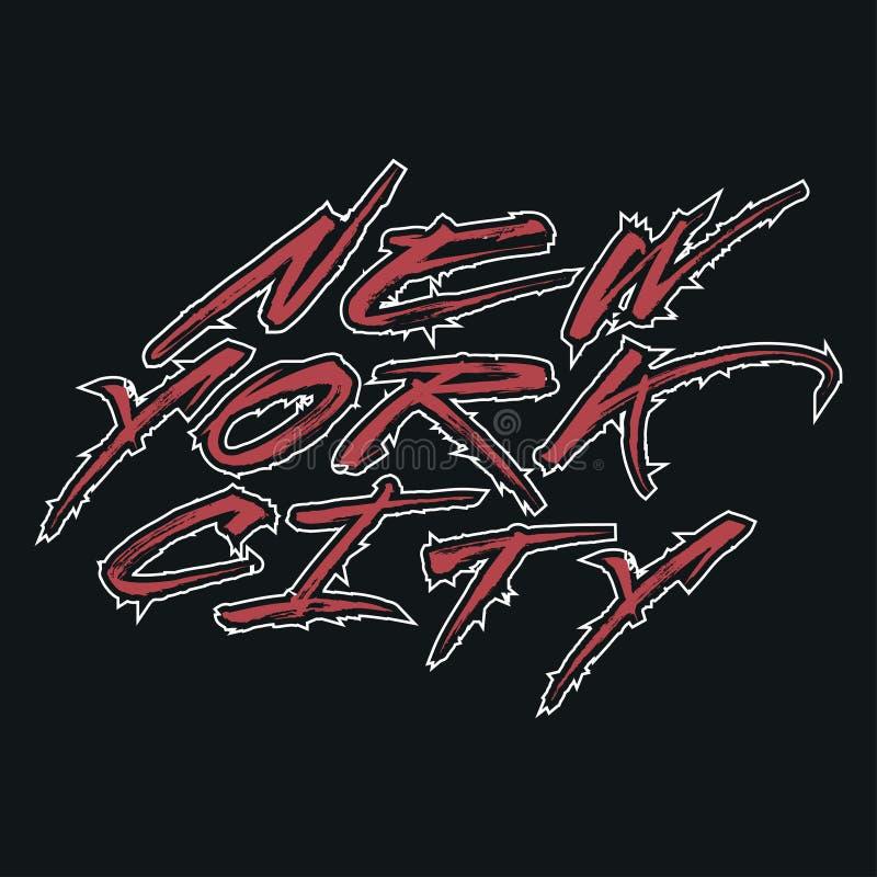 Koszulka Nowy Jork, sporta projekt, nowa York moda, typografia ilustracji