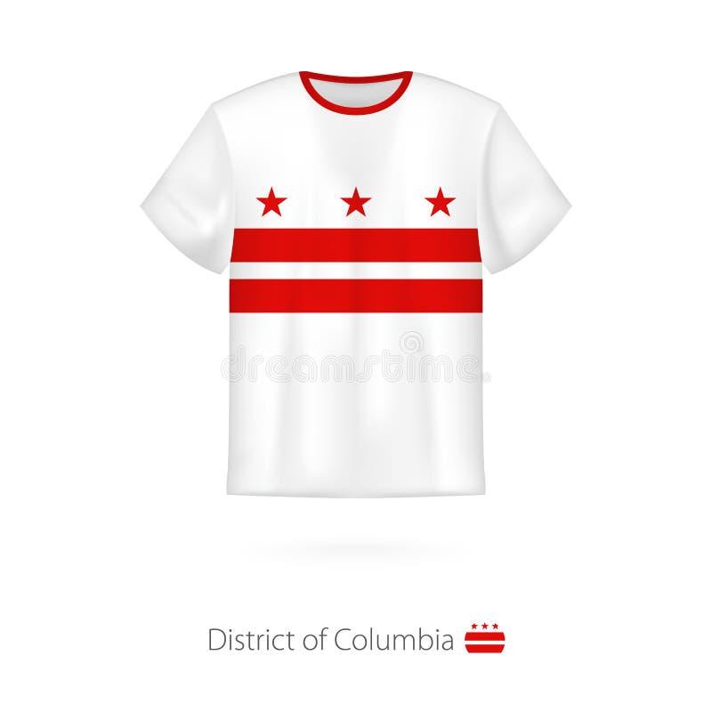 Koszulka projekt z flagą dystrykt kolumbii U S ilustracji