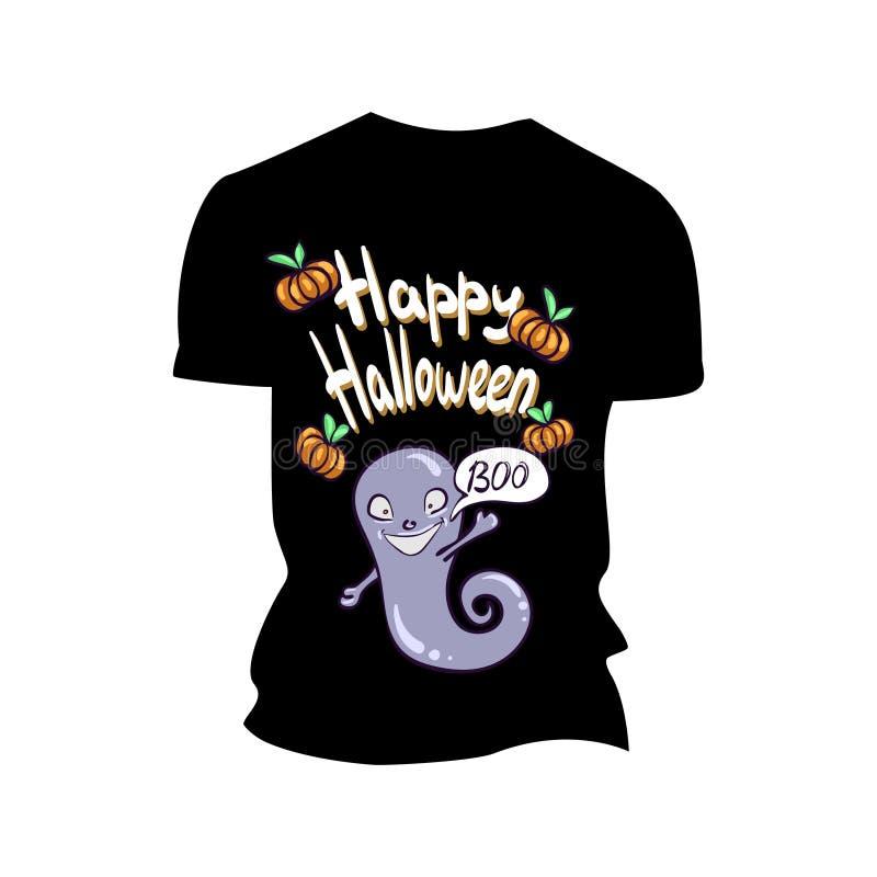 Koszulka z Halloween drukiem zdjęcia stock
