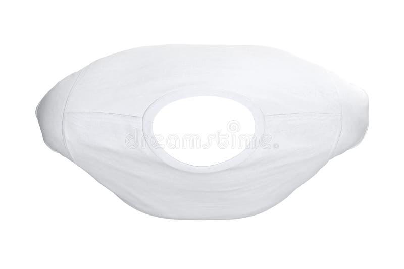 Koszulki biała tkanina, odgórny widok ilustracji