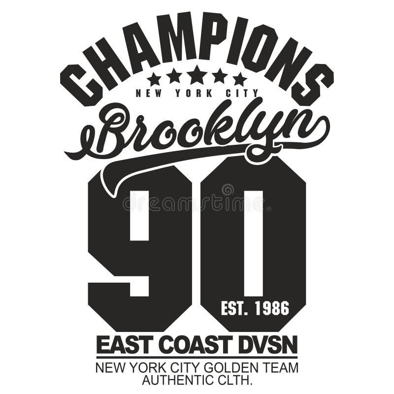 Koszulki grafiki stemplowy set Sport odzieży typografii emblemat royalty ilustracja