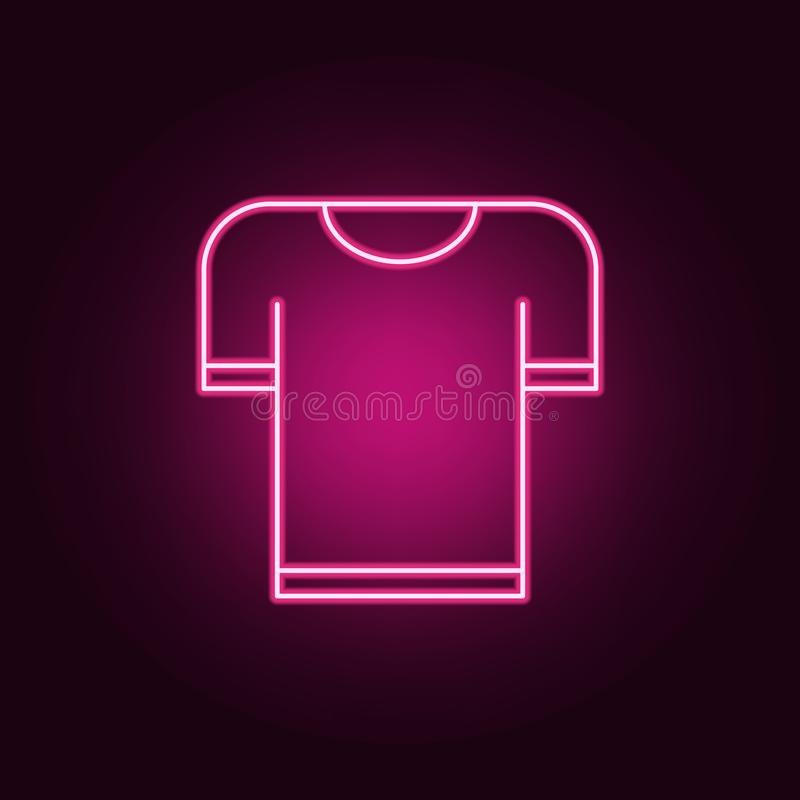 Koszulki ikona Elementy odziewają w neonowych stylowych ikonach Prosta ikona dla stron internetowych, sieć projekt, mobilny app,  ilustracji