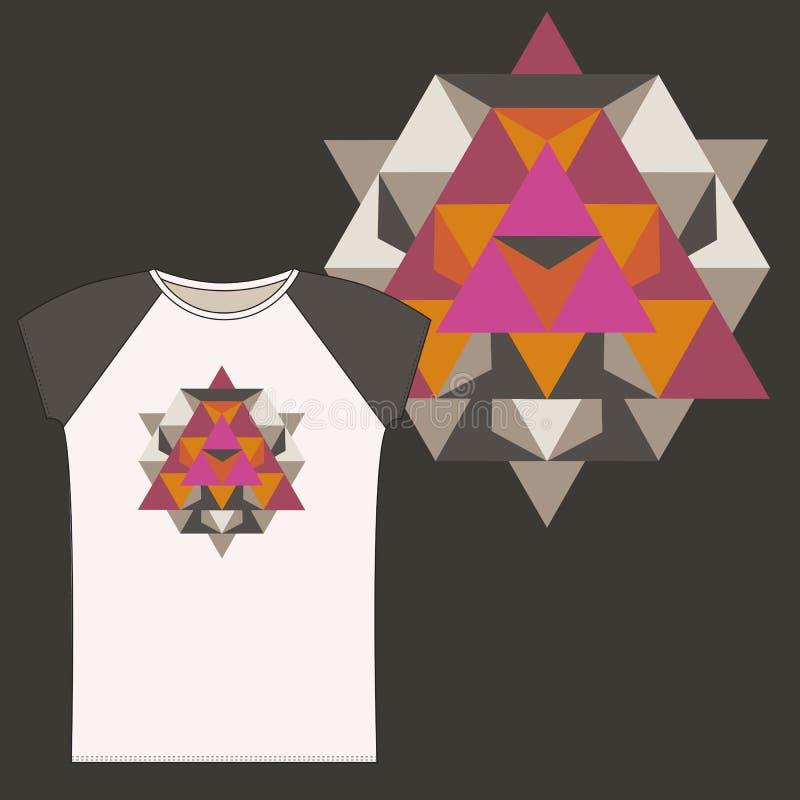 Koszulki z Świętym geometria projektem ilustracji