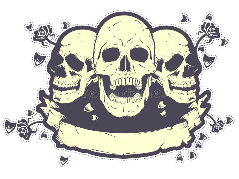 koszulowa projekt czaszka t ilustracji