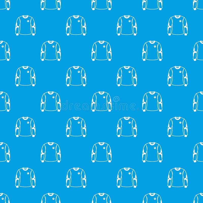 Koszulowego bramkarza wzoru wektorowy bezszwowy błękit royalty ilustracja