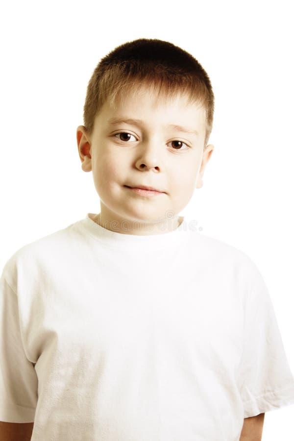 koszulowy chłopiec biel fotografia stock