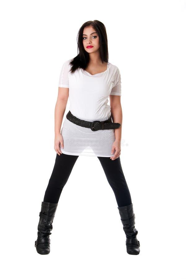 koszulowy dziewczyna biel zdjęcia royalty free