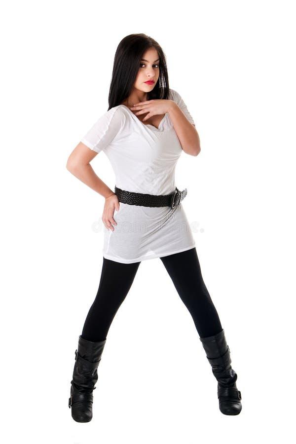 koszulowy dziewczyna biel obraz stock