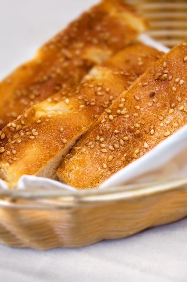 koszy turkish chlebowi sezamowi grżą fotografia stock